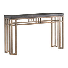 Tommy Bahama Home   Tommy Bahama Cypress Point Montera Travertine Console  Table   Console Tables