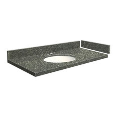 Transolid 24.5 in. Quartz Vanity Top in Greystone with 8in Centerset