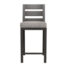 Perrymount Outdoor Barstool w/Cushion in Brown (Set of 2) P539-130