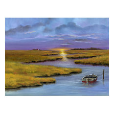 """The Marshes"" Canvas Painting by H. Hargrove, 24""x20"""