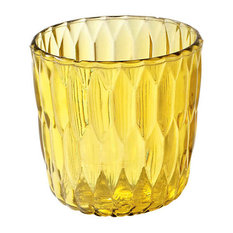 Jelly Vase by Kartell, Set of 2, Transparent Yellow