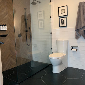 Seamless Floor Tile Moves Into the Zero Clearance Shower