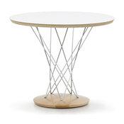 サイクロン エンドテーブル/ホワイト×メープル