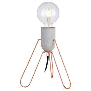 Versanora Stylish LED Bedside Table Lamp, Rose Gold, Modern Lighting