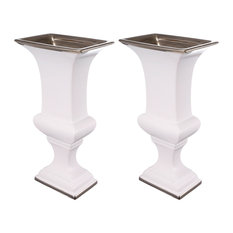 "Set of 2 Elliette Decorative Urn Vase 6""x4""x12"""