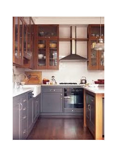 Mixing stained wood kitchen cabinetry with painted cabinets?