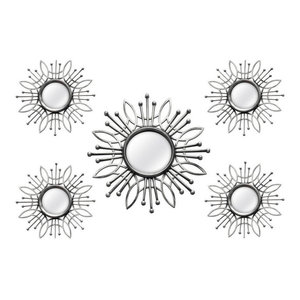 Stratton Home Decor Sparkle Mirror Burst Wall Decor Midcentury Wall Mirrors By Ami Ventures Inc