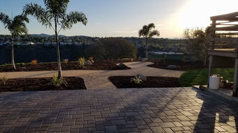 Encinitas Pavers, Drip, Path, Plants, Mulch, Bolders