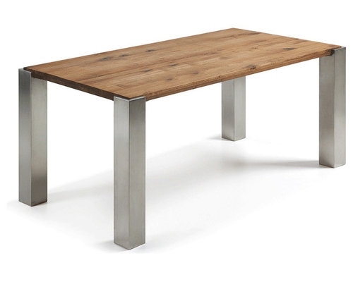 New style tables dining coffee and side from laforma for Latest style dining table