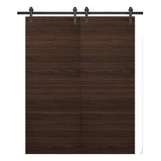 Sliding Double Barn Doors 36 x 80 & 13FT Rail | Planum 0010 Chocolate Ash|