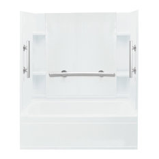"Sterling  Accord 32""x60""x74.25"" Vikrell Tub/Shower, White"