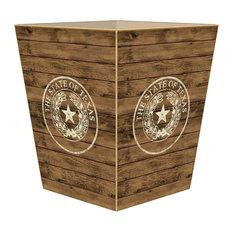 WB8534, Shiplap Texas Seal Wastepaper Basket