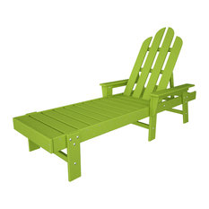 POLYWOOD Long Island Chaise in Lime