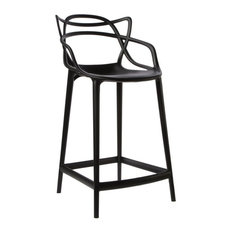 Masters Modern Counter Stool, Black