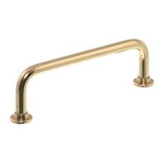 Ami Tubular Drawer Handles, Set of 3, Small, Uncoated Polished Brass