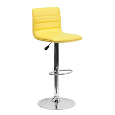 Delacora FF-CH-92023 Contemporary Adjustable Height Bar and - Yellow