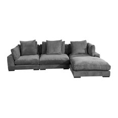 Tumble Lounge Modular Sectional, Charcoal