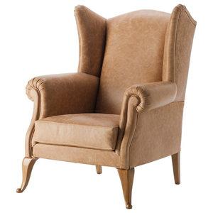 Berger Vintage Leather Armchair