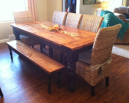 8ft Baluster Turned Leg Dining Table   Dining Tables