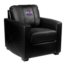 New Orleans Pelicans NBA Silver Chair With NOLA Logo Panel