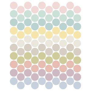 Children's Polka Dot Wall Adhesives, Pastel, Set of 100