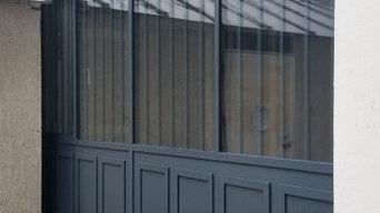 Façades à rupture de pont thermique avec fenêtre