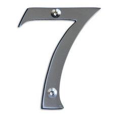 Chrome house numbers modern