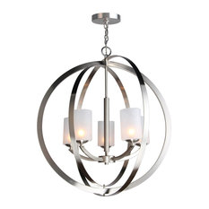 Woodbridge Lighting Mirage 5-Light Pendant Chandelier, LED, Opal