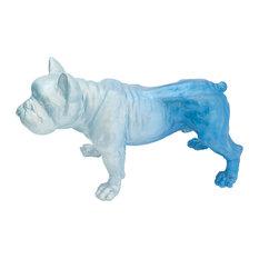 Poppi French Bulldog Sculpture, Blue Marlin, 25x35 cm