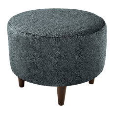 Admirable 50 Most Popular Round Ottomans And Footstools For 2019 Houzz Lamtechconsult Wood Chair Design Ideas Lamtechconsultcom