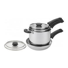 Prestige Kitchen Hacks Nesting Pan Set, 5-Piece, Stainless Steel