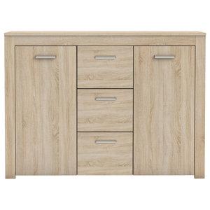 Brava Sideboard, Brushed Oak, 3 Drawers