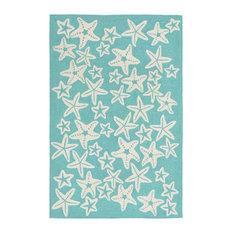 """Capri Starfish Rug, Aqua, 7'6""""x9'6"""""""