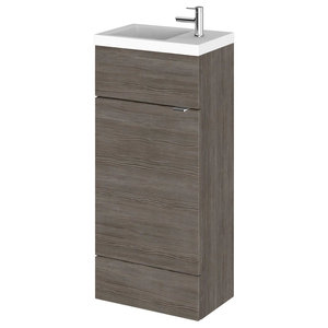Combinations Bathroom Vanity Unit, Grey-Brown, Compact, 40 cm