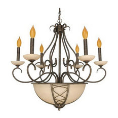 "Sahara 8-Light Chandelier 28""x26"""