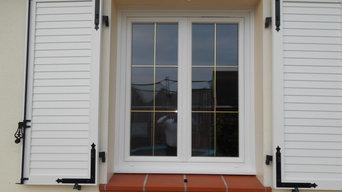Fenêtre PVC Petits Bois Laiton