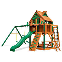 Navigator Treehouse Swing Set With Fort Add-On and Timber Shield
