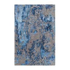 """Brynn Contemporary Area Rug, Blue, 5'x7'6"""""""