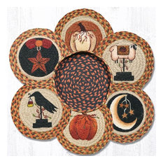 """Earth Rugs TNB-1121 Autumn Trivets in a Basket 10"""" x 10"""""""