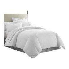 iEnjoy Home - Becky Cameron Premium Ultra Soft Luxury Duvet Set, Full/Queen, White - Duvet Covers and Duvet Sets