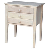 International Concepts OT-66 Accent Table With Drawers Unfinished