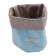Bauhaus Bread Bag, Sky Blue and Taupe