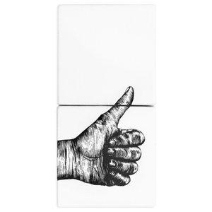 Hand Ceramic Tile Mural, 2 Tiles, Ok Sign