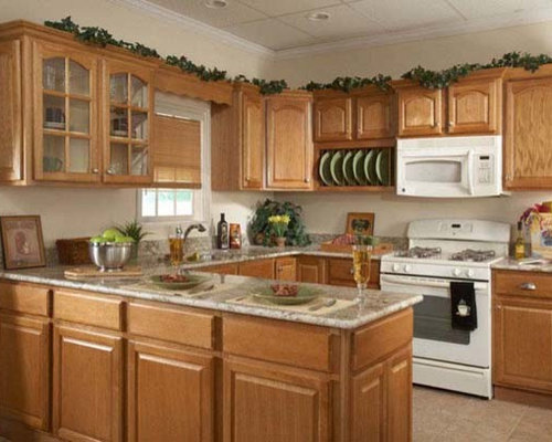 Country Oak   RTA Kitchen Cabinets   In Stock All Wood   Cheap