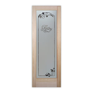 Pantry Door Grape Ivy Melany Etched Glass, 30x80x1.38