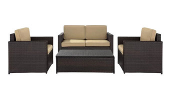 Blazer 4 Piece Rattan Sofa Seating Group with Cushions