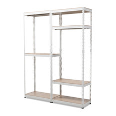 Exceptionnel KR   Gavin White Metal 7 Shelf Closet Storage Racking Organizer   Closet  Organizers