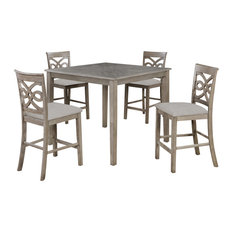 Sunset Trading French Twist 5 Piece 42-inch Square Dining Table Set