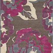 "Weave & Wander Sagio Rug, Dark Gray and Raspberry, 5'3""x7'6"""