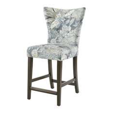 Madison Park Connie Grey Floral Patterned Counter Stool